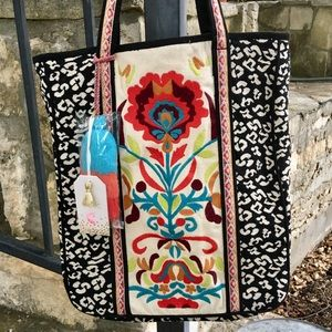 2Chic Embroidered Tote Bag